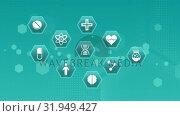 Medical science study symbols. Стоковое видео, агентство Wavebreak Media / Фотобанк Лори