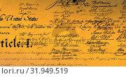 Купить «Written constitution of the United States 4k», видеоролик № 31949519, снято 24 мая 2019 г. (c) Wavebreak Media / Фотобанк Лори