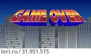 Купить «Game Over Sign», видеоролик № 31951515, снято 13 июня 2019 г. (c) Wavebreak Media / Фотобанк Лори