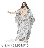 Jesus Christ in a shroud. Стоковая иллюстрация, иллюстратор Михаил Гойко / Фотобанк Лори