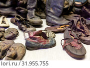 Купить «Children's shoes of victims, camp Auschwitz II», фото № 31955755, снято 7 мая 2019 г. (c) Tryapitsyn Sergiy / Фотобанк Лори