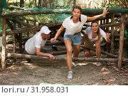 Купить «Emotional competition to overcome obstacle course in an amusement park», фото № 31958031, снято 3 июня 2020 г. (c) Яков Филимонов / Фотобанк Лори