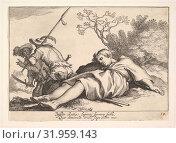 Купить «Pleasures of Occupation, Etching and engraving, sheet: 4 1/4 x 5 7/8 in. (10.8 x 15 cm), Prints, Cornelis Bloemaert (Dutch, Utrecht 1603–?1684 Rome)», фото № 31959143, снято 26 апреля 2017 г. (c) age Fotostock / Фотобанк Лори