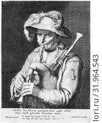 Купить «Man Playing Bagpipe, 17th century, Etching and engraving, sheet: 8 9/16 x 6 3/8 in. (21.8 x 16.2 cm), Prints, Cornelis Bloemaert (Dutch, Utrecht 1603â€...», фото № 31964543, снято 26 апреля 2017 г. (c) age Fotostock / Фотобанк Лори