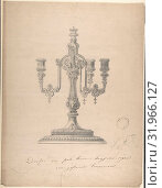Купить «Design for a Candelabra, 1877, Graphite, sheet: 19 1/16 x 13 7/8 in. (48.4 x 35.2 cm), Drawings, Heinrich Jauner (Austrian, 1842–1912)», фото № 31966127, снято 26 апреля 2017 г. (c) age Fotostock / Фотобанк Лори