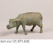 Купить «Water Buffalo, Song dynasty (960–1279) or earlier, China, Bronze, H. 2 1/2 in. (6.4 cm), W. 4 3/4 in. (12.1 cm), Metalwork», фото № 31971635, снято 8 мая 2017 г. (c) age Fotostock / Фотобанк Лори