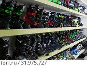 Купить «Modern ski boots in store of Barcelona», фото № 31975727, снято 6 февраля 2018 г. (c) Яков Филимонов / Фотобанк Лори