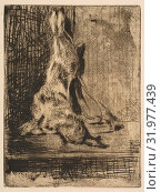 The Rabbit, 1866, Etching, drypoint, and bitten tone on laid paper (watermark: Hudelist), only state, plate: 5 1/4 x 4 in. (13.5 x 10.2 cm), Prints, Édouard Manet (French, Paris 1832–1883 Paris) (2017 год). Редакционное фото, фотограф © Copyright Artokoloro Quint Lox Limited / age Fotostock / Фотобанк Лори