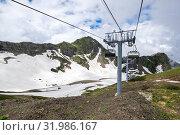 Купить «View of Caucasian mountains», фото № 31986167, снято 21 июня 2017 г. (c) Юлия Белоусова / Фотобанк Лори