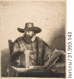 Купить «Cornelis Claesz Anslo, Preacher, Etching, Prints, Rembrandt (Rembrandt van Rijn) (Dutch, Leiden 1606–1669 Amsterdam)», фото № 31993143, снято 26 апреля 2017 г. (c) age Fotostock / Фотобанк Лори