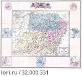 1861, Appleton's Map of the Seat of the Civil War, Pennsylvania, Virginia, Maryland, North Carolina (2017 год). Редакционное фото, фотограф © Artokoloro Quint Lox Limited / age Fotostock / Фотобанк Лори