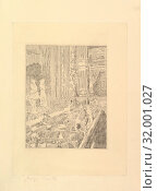 The Orchestra of the Olympia, Shoreditch, ca. 1920, Etching, only state, plate: 11 7/8 x 8 7/8 in. (30.2 x 22.5 cm), Prints, Walter Richard Sickert (British, Munich 1860–1942 Bathampton, Somerset) (2017 год). Редакционное фото, фотограф © Copyright Artokoloro Quint Lox Limited / age Fotostock / Фотобанк Лори