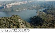 Купить «Scenic panoramic view from high point of Sau reservoir, Catalonia, at autumn day», видеоролик № 32003075, снято 17 ноября 2018 г. (c) Яков Филимонов / Фотобанк Лори