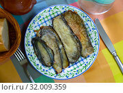 Купить «Delicious stuffed eggplants with ham», фото № 32009359, снято 21 января 2020 г. (c) Яков Филимонов / Фотобанк Лори