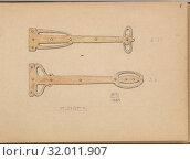 Купить «Two Designs for Hinges, 1899, Graphite and gouache, sheet: 3 1/2 x 5 in. (8.9 x 12.7 cm), Edgar Gilstrap Simpson (British, 1867–1945 (presumed)), Two...», фото № 32011907, снято 27 апреля 2017 г. (c) age Fotostock / Фотобанк Лори