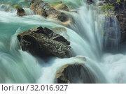 Купить «Waterfall in mountains», фото № 32016927, снято 18 июля 2019 г. (c) александр жарников / Фотобанк Лори