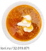 Купить «Appetizing Russian dish Shchi», фото № 32019871, снято 12 декабря 2019 г. (c) Яков Филимонов / Фотобанк Лори