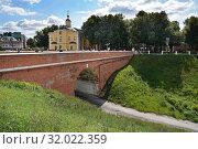 Купить «Рязань, Глебовский мост», эксклюзивное фото № 32022359, снято 11 августа 2019 г. (c) Dmitry29 / Фотобанк Лори
