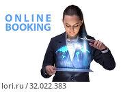 Купить «Concept of online air travel booking», фото № 32022383, снято 17 ноября 2019 г. (c) Elnur / Фотобанк Лори