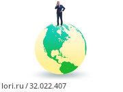 Купить «Businessman on top of the world», фото № 32022407, снято 20 сентября 2019 г. (c) Elnur / Фотобанк Лори
