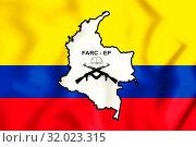 Купить «3D Flag of the FARC-EP. 3D Illustration.», фото № 32023315, снято 9 апреля 2020 г. (c) age Fotostock / Фотобанк Лори