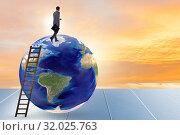 Купить «Businessman on top of the world», фото № 32025763, снято 20 сентября 2019 г. (c) Elnur / Фотобанк Лори