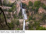 Купить «Sant Miquel del Fai with water cascades», фото № 32039235, снято 5 мая 2018 г. (c) Яков Филимонов / Фотобанк Лори