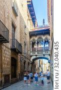 Купить «Gothic Quarter, Barcelona», фото № 32040435, снято 24 июля 2019 г. (c) Яков Филимонов / Фотобанк Лори