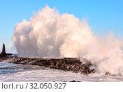 Photo Picture of a BIg Wave in the Ocean. Стоковое фото, фотограф Zoonar.com/ALB / easy Fotostock / Фотобанк Лори