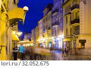 Купить «Torun streets at twilight», фото № 32052675, снято 11 мая 2018 г. (c) Яков Филимонов / Фотобанк Лори