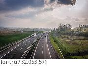 Expressway S52 near Bielsko-Biala city in Silesian Voivodeship of Poland. Стоковое фото, фотограф Konrad Zelazowski / age Fotostock / Фотобанк Лори