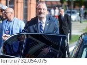 September 29, 2018 Lodz, Poland. Law and Justice party convention. Pictured: Antoni Macierewicz. Редакционное фото, фотограф Piotr Kuna / age Fotostock / Фотобанк Лори