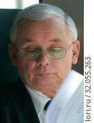 10.06.2010 Warsaw, Poland. Pictured: Jaroslaw Kaczynski. Редакционное фото, фотограф BE&W AGENCJA FOTOGRAFICZNA SP. / age Fotostock / Фотобанк Лори
