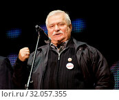 31/08/2010 Gdansk, Poland. Pictured: Lech Walesa (President of Poland between 1990 and 1995, Nobel Prize in 1983) Редакционное фото, фотограф DamaArt / age Fotostock / Фотобанк Лори