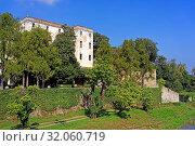 Schloss, Castello del Catajo, Park, Kanal, Canale Battaglia. Стоковое фото, фотограф Bernd J. W. Fiedler / age Fotostock / Фотобанк Лори
