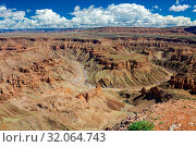 The fish river canyon in the south of namibia. Стоковое фото, фотограф Zoonar.com/matthieu gallet / age Fotostock / Фотобанк Лори