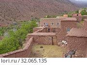 Village of Tighza, Ounila River valley, Ouarzazate Province, region of Draa-Tafilalet, Morocco, North West Africa. Стоковое фото, фотограф Christian Goupi / age Fotostock / Фотобанк Лори
