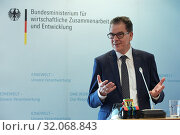 Berlin, Germany - Dr. Gerd Mueller, Minister for Economic Cooperation and Development.  (2019 год). Редакционное фото, агентство Caro Photoagency / Фотобанк Лори