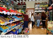 Spain, Mallorca - Village shop in Cas Concos (2015 год). Редакционное фото, агентство Caro Photoagency / Фотобанк Лори