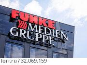 Купить «Funke Media Group, Essen, Ruhr Area, North Rhine-Westphalia, Germany», фото № 32069159, снято 24 мая 2019 г. (c) Caro Photoagency / Фотобанк Лори