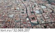 Купить «Aerial view of the spanish city of Reus. Tarragona province. Catalonia. Spain», видеоролик № 32069207, снято 17 января 2019 г. (c) Яков Филимонов / Фотобанк Лори