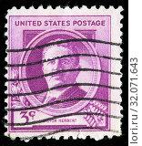 Victor Herbert (1859-1924), American composer, cellist, conductor, postage stamp, USA, 1940. (2010 год). Редакционное фото, фотограф Ivan Vdovin / age Fotostock / Фотобанк Лори