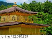 Купить «Asia, Japan, Kansai Region, Kyoto, Rokuon-ji Temple, Kinkaku-ji, The Golden Pavillon», фото № 32090859, снято 17 августа 2018 г. (c) age Fotostock / Фотобанк Лори