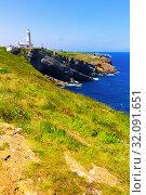 Купить «Cape Mayor with lighthouse, Santander, Spain», фото № 32091651, снято 14 июля 2019 г. (c) Яков Филимонов / Фотобанк Лори