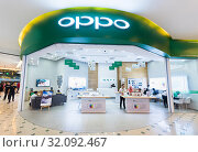 Oppo store in Plaza Low Yat, Kuala Lumpur, Malaysia (2017 год). Редакционное фото, фотограф Александр Подшивалов / Фотобанк Лори
