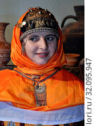 Купить «Russia, Dagestan, Dorgin woman», фото № 32095947, снято 18 сентября 2018 г. (c) age Fotostock / Фотобанк Лори