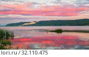Купить «Beautiful sunset on the Volga in Samara.», фото № 32110475, снято 5 июля 2019 г. (c) Акиньшин Владимир / Фотобанк Лори