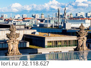 Travel to Germany - view of Berlin city from Reichstag building in september. Стоковое фото, фотограф Zoonar.com/Valery Voennyy / easy Fotostock / Фотобанк Лори