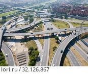 Купить «Barcelona flyover interchange», фото № 32126867, снято 24 мая 2018 г. (c) Яков Филимонов / Фотобанк Лори