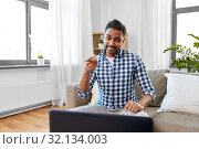 Купить «indian male blogger pointing to you at home», фото № 32134003, снято 21 апреля 2019 г. (c) Syda Productions / Фотобанк Лори